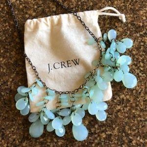 J Crew Gorgeous Green Cascade Celebrity Necklace